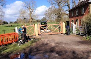 National trust Hanbury Hall Lodge gates
